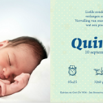 tekst geboortekaartje