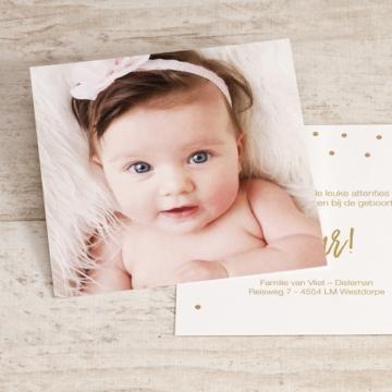 Bedankkaartje met foto en confetti