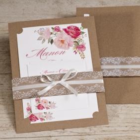 bohemian-kraft-trouwkaart-met-roze-bloemen-TA108-102-15-1