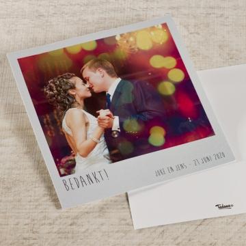 Polaroid bedankkaartje voor huwelijk