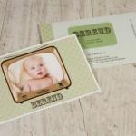 retro geboortekaartje
