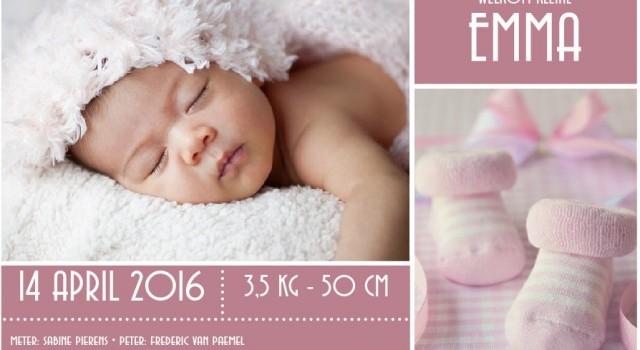 voorbeeld geboortekaartje