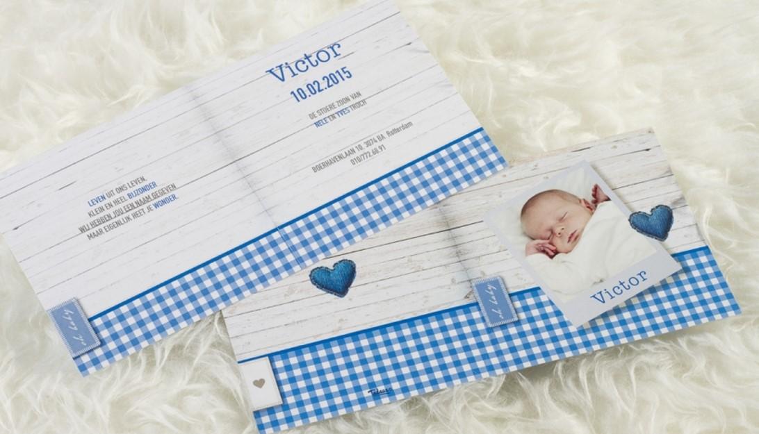geboortekaartjes ontwerpen victor