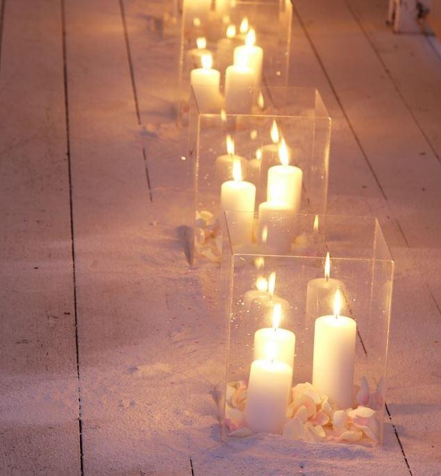 Bruiloftverlichting - kaarsen