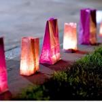 Bruiloftverlichting - lampionnen in zakjes