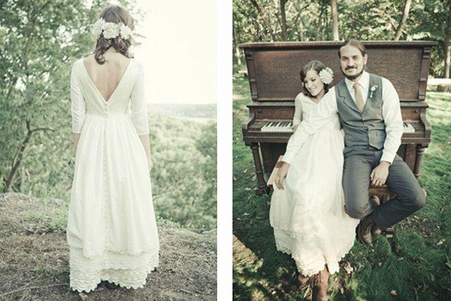 Hipster huwelijk - originele huwelijksfoto's