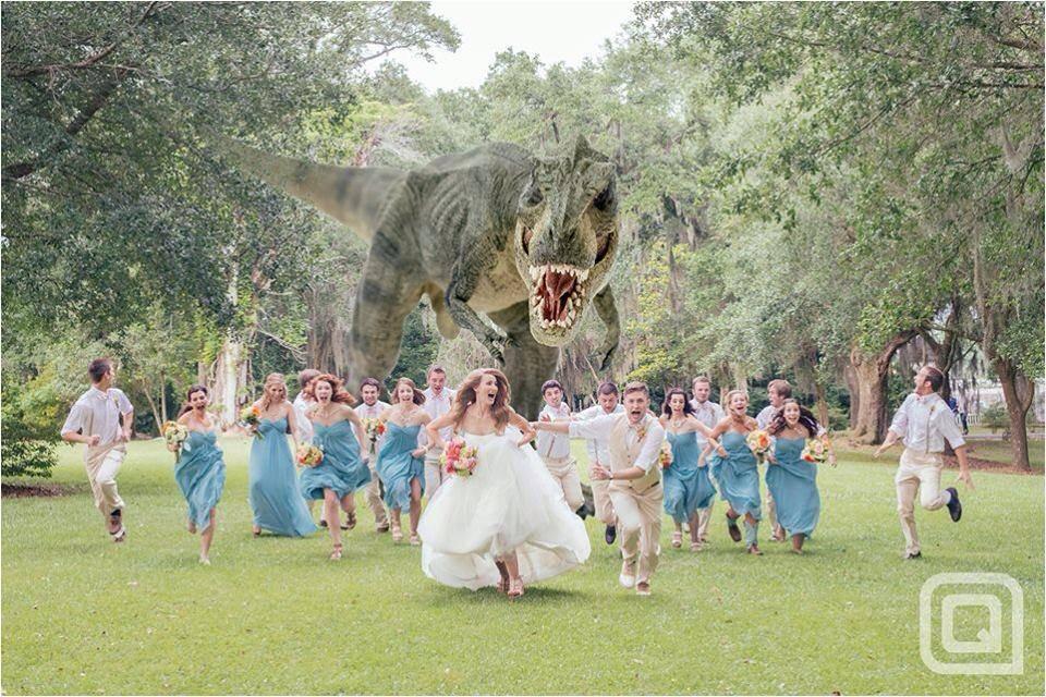 dinosaurus trouwfeest organiseren