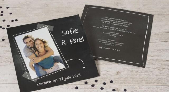 originele trouwuitnodiging grote foto