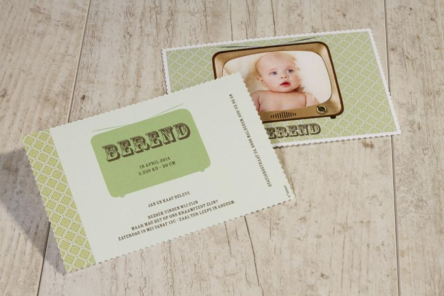 retro babykaartje geboortekaartje 14
