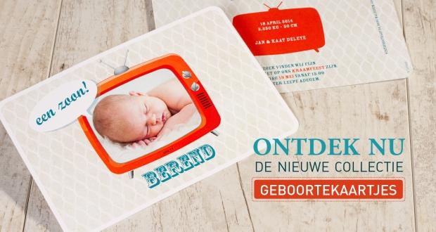 retro babykaartje geboortekaartje cta
