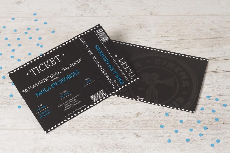 uitnodiging ticket maken