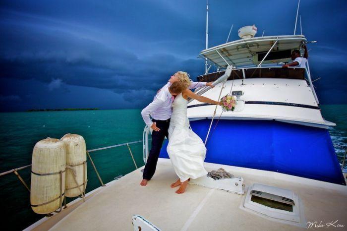 trouwfoto trouwfeest organiseren boot