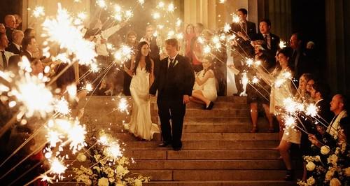 vuurwerk huwelijk - ideeën huwelijk
