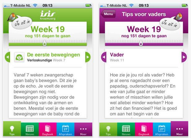 zwangerschaps app voor de baby en mama - zwangerschapsassistent