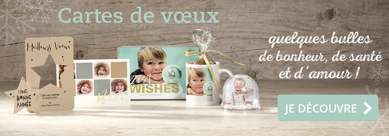 Cartes de voeux et cadeaux photos