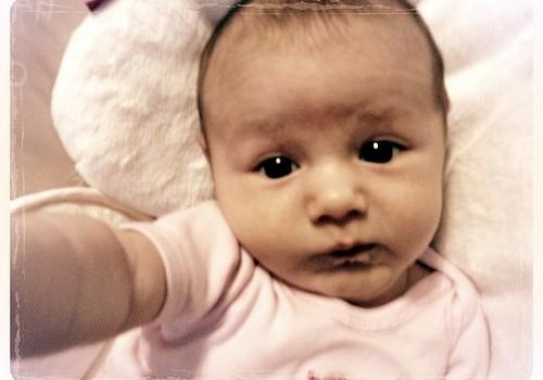 geboortekaartje foto selfie