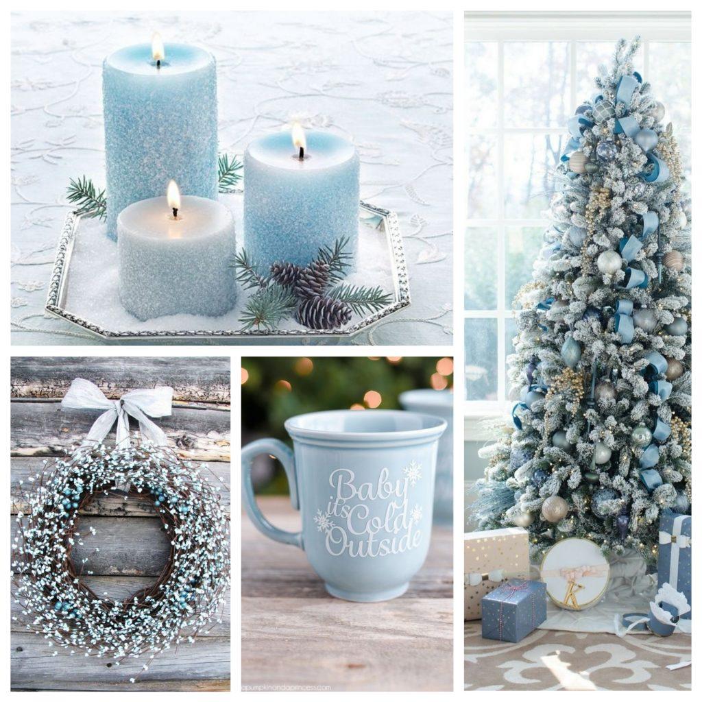 kerstboom versieren met blauwe kleuren