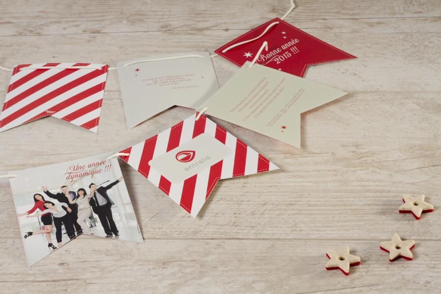 chouettes cartes de vœux format original