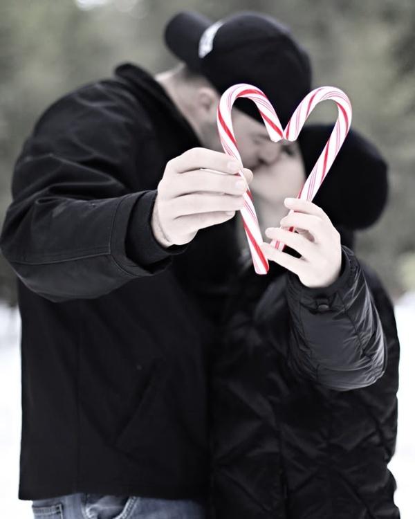 kerstkaart foto zwart wit