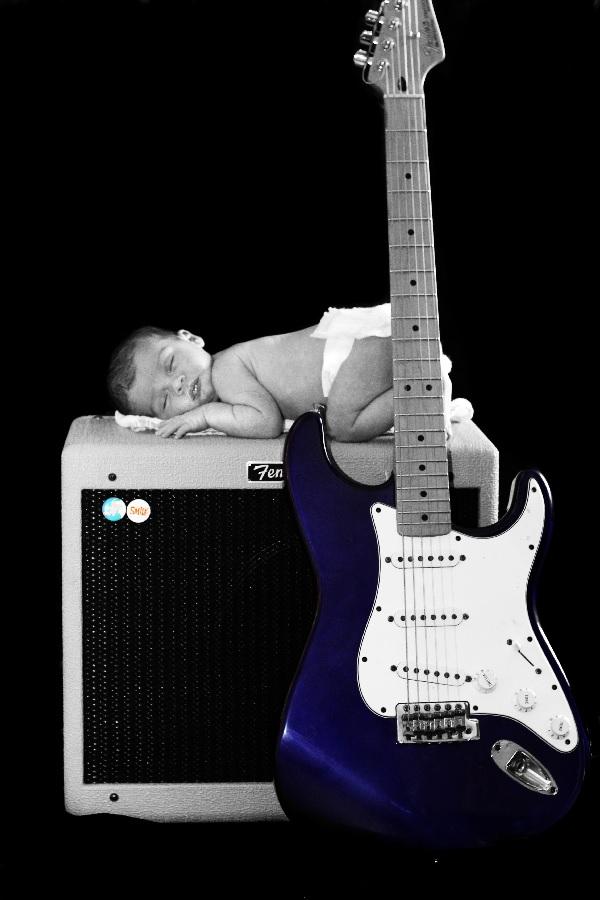 stoere geboortekaartjes voor jongens gitaar