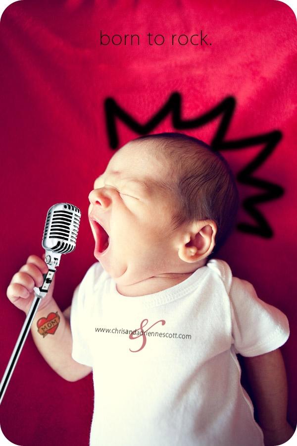 stoere geboortekaartjes voor jongens rockster