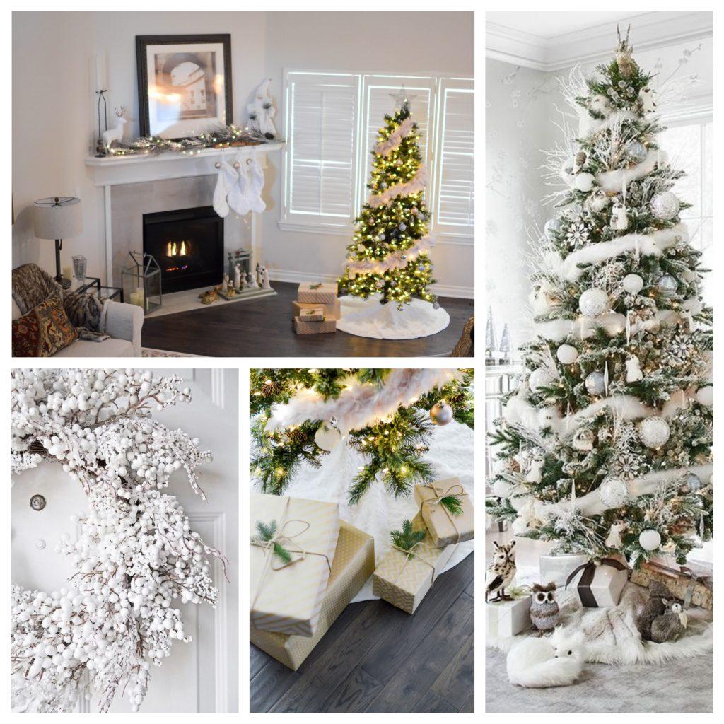 kerstboom versieren met witte accenten