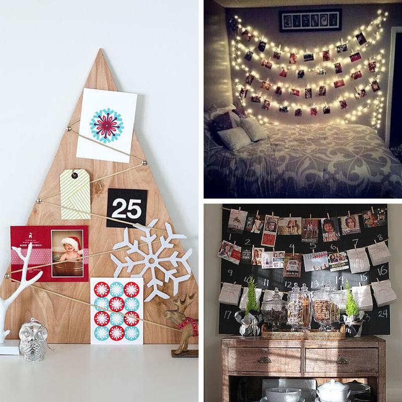 Kerstkaarten als decoratie in huis tadaaz blog - Huis om te versieren ...