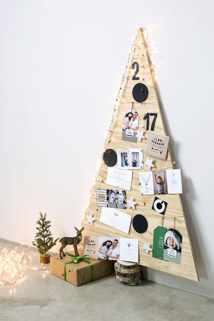 kerstkaarten als decoratie kerstboom
