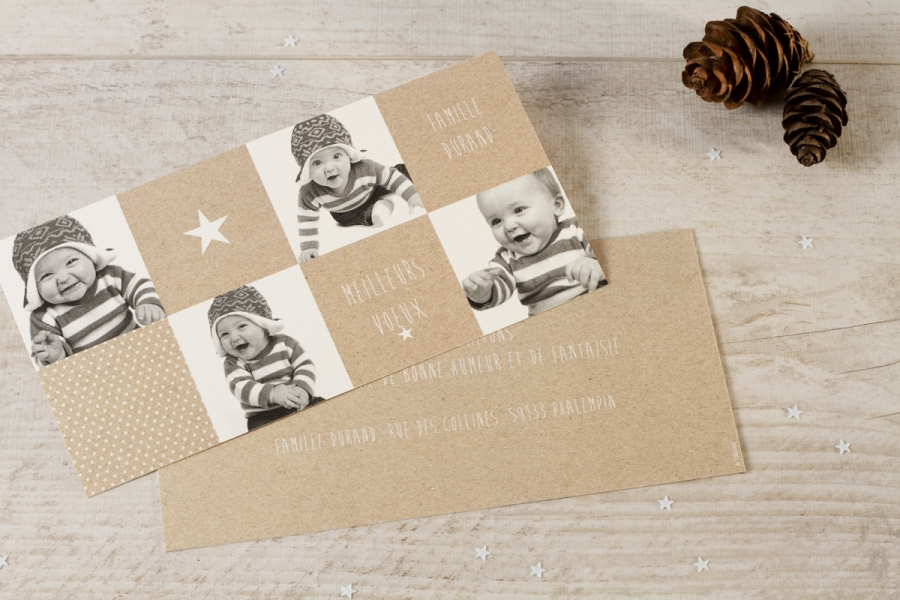 création de cartes de vœux photo noir et blanc 2