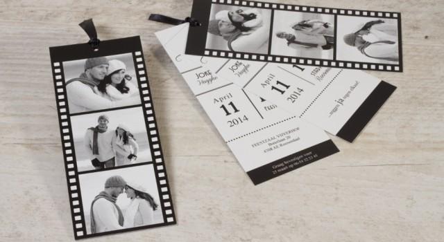 originele huwelijkskaarten zwart wit