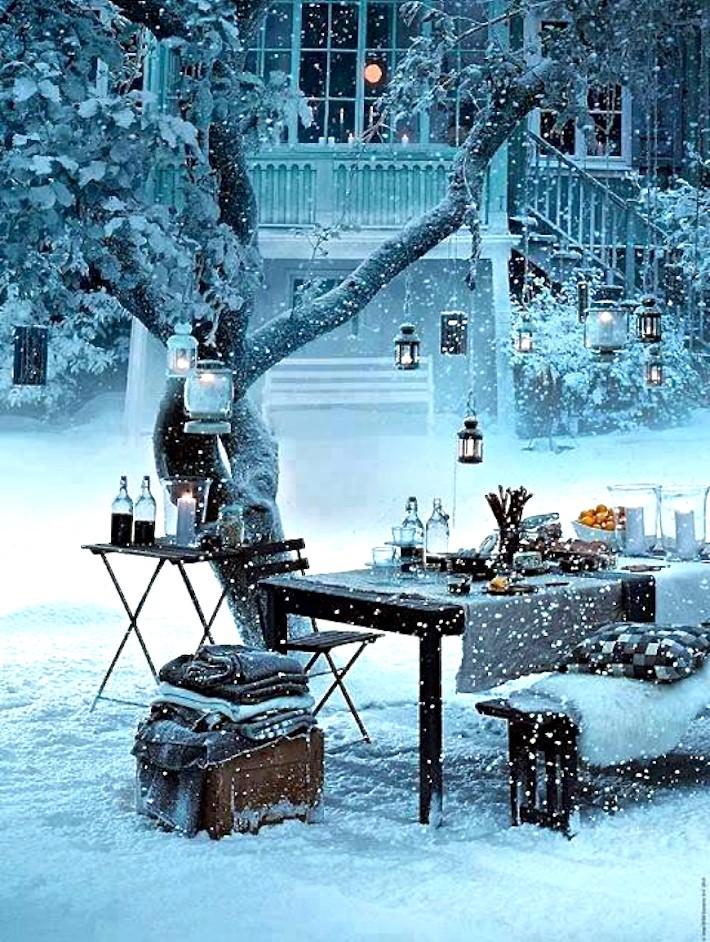 verjaardagsfeestje winter