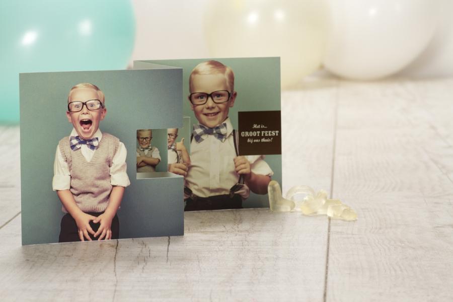 communie uitnodigingen 2015 foto drieluik