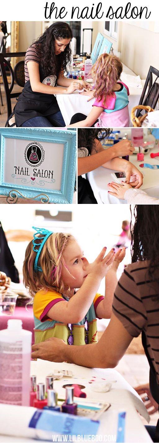 verjaardagsfeest thema dochter meisje salon