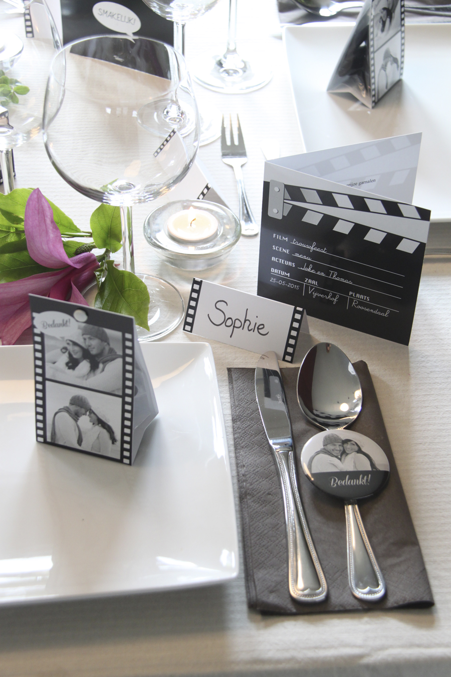 tafelschikking huwelijk menu stijl uitnodigingen