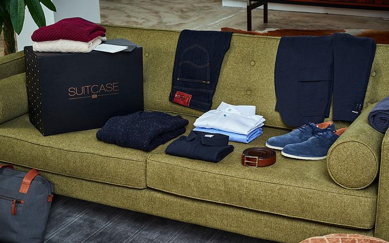 kerstshoppen suitcase
