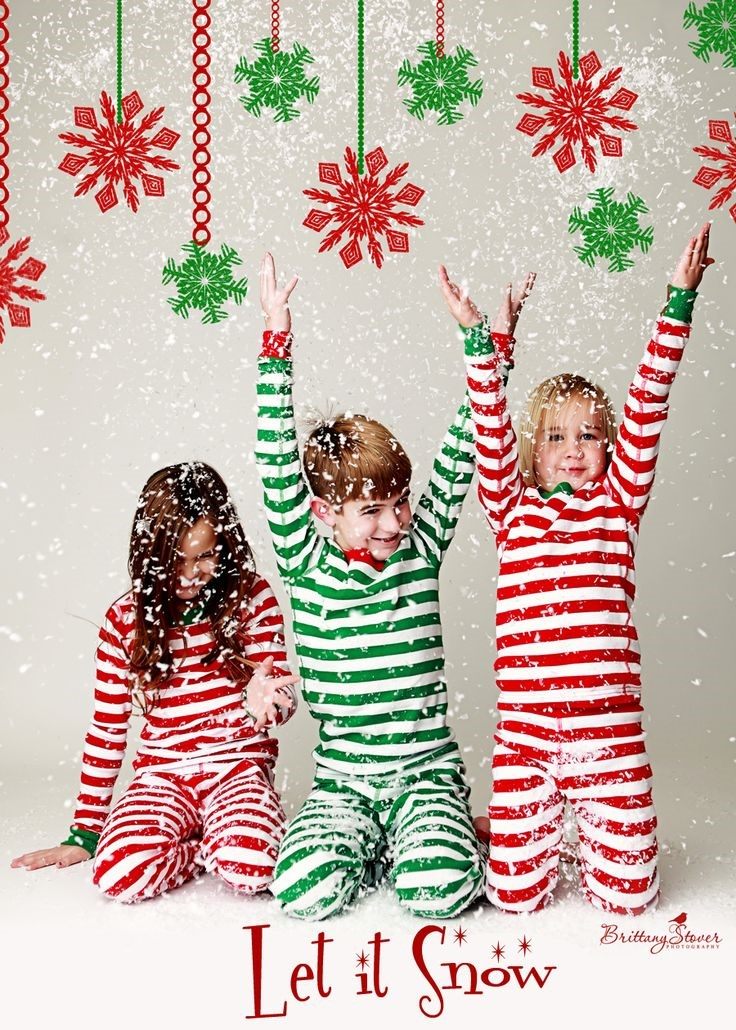 originele kerstkaart foto pyjama