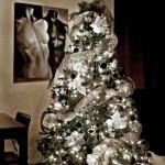 kerstboom zwart wit