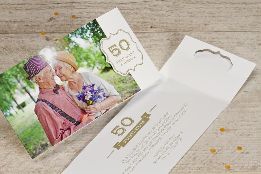 huwelijksjubileum aankondigen uitnodiging 50 jaar getrouwd