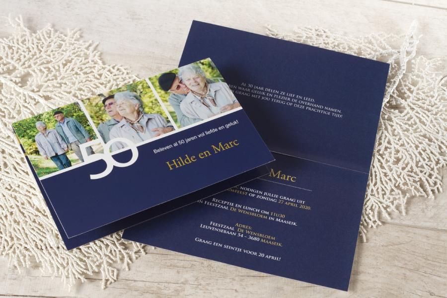huwelijksjubileum aankondigen uitnodiging 50 jaar