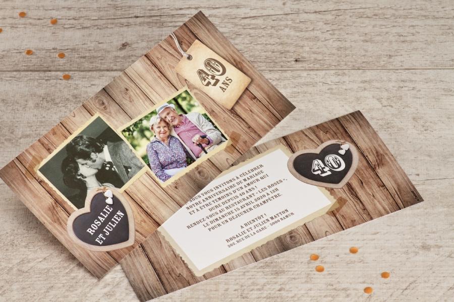 Image pour invitation anniversaire de mariage