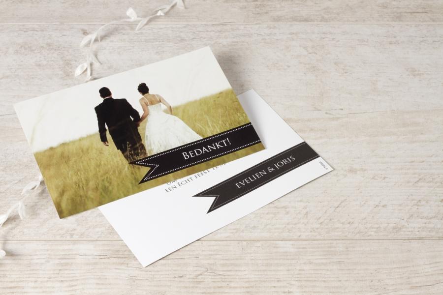 bedankkaartjes huwelijk met trouwfoto