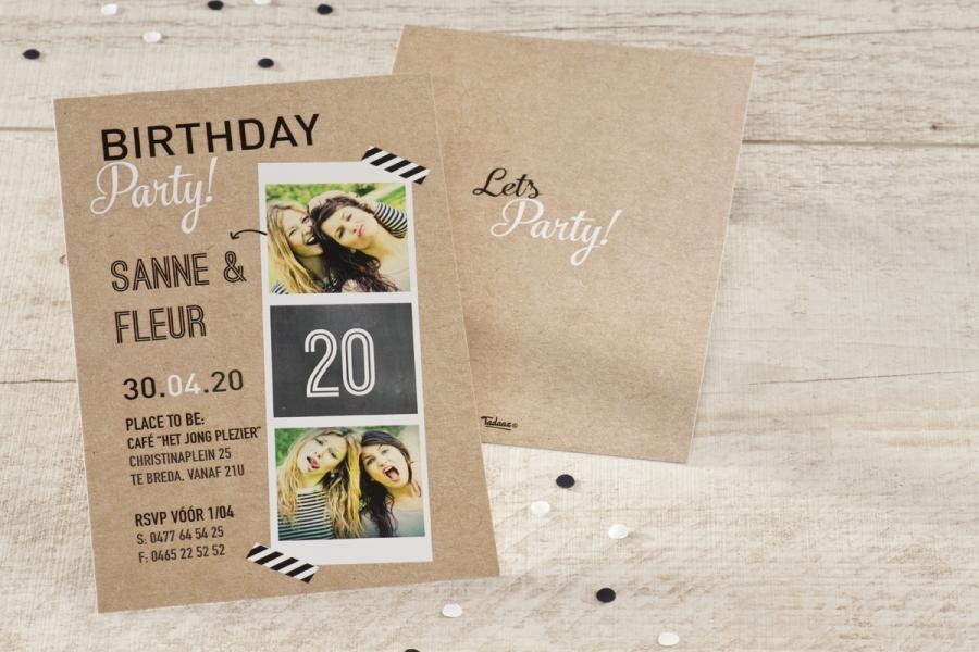 uitnodiging verjaardag 20 jaar