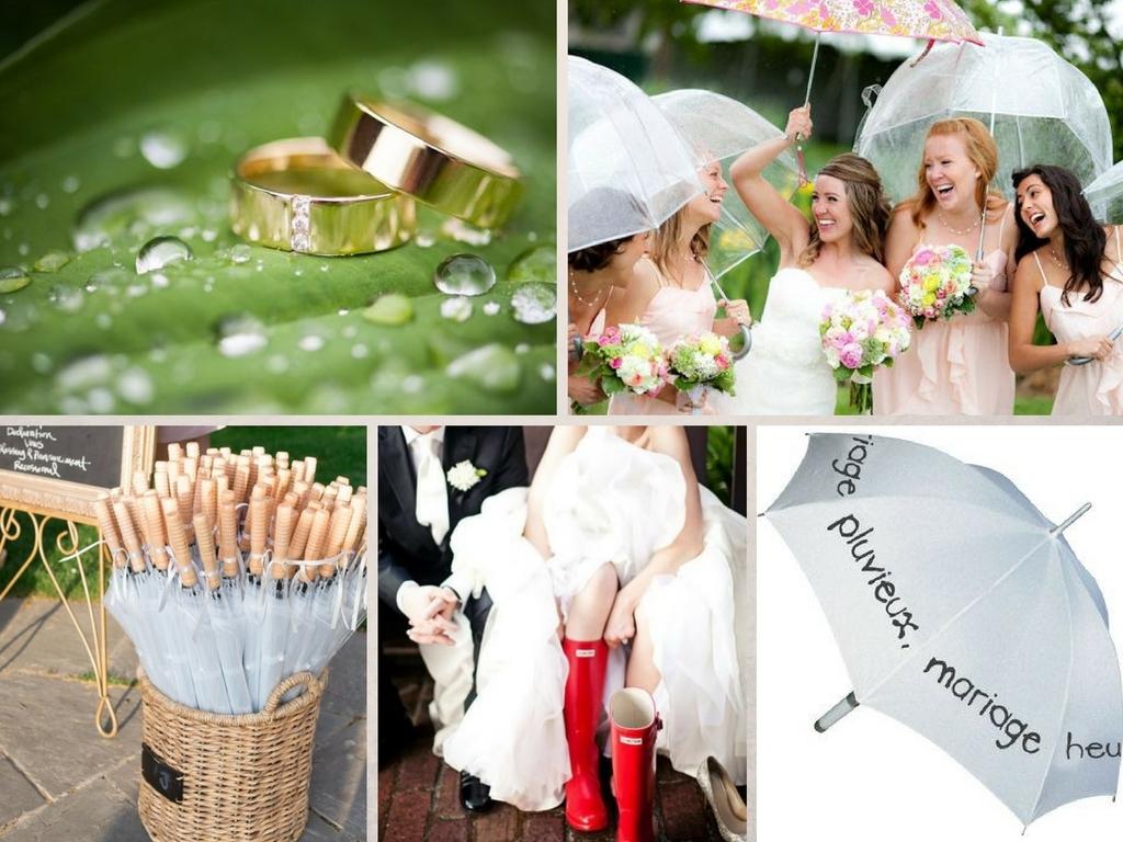 De jolis parapluies en cas de mariage pluvieux