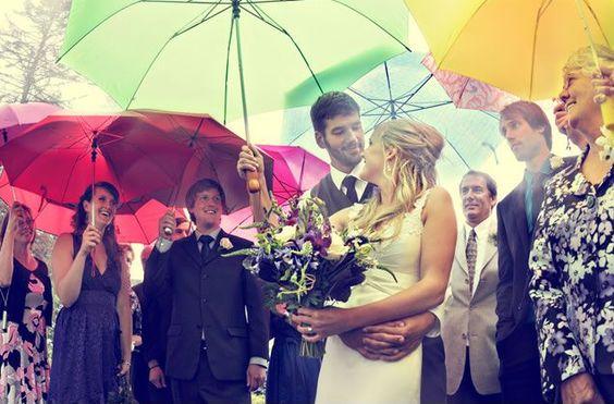 Et s'il pleut le jour J ! Que prévoir pour un mariage pluvieux ?
