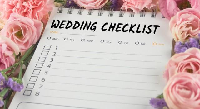 Huwelijk checklist