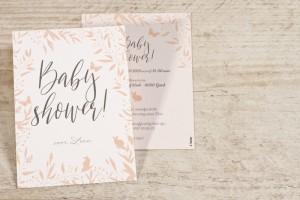 Bohemian babyshower uitnodiging