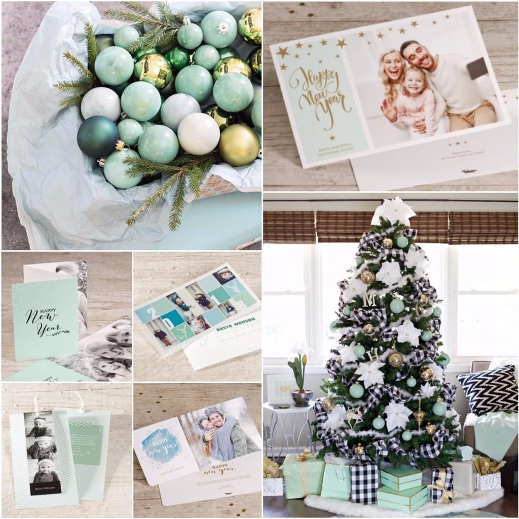 Kerstkaarten met soft colors