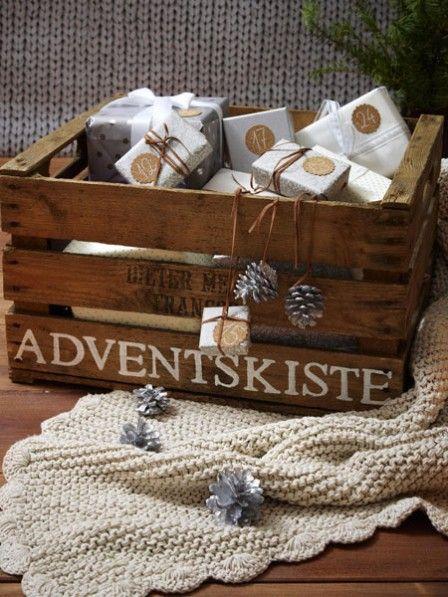 Adventsgeschenkjes in een kistje