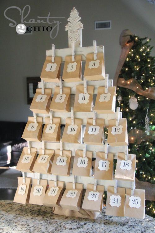 adventskalender zelf maken kerstboom