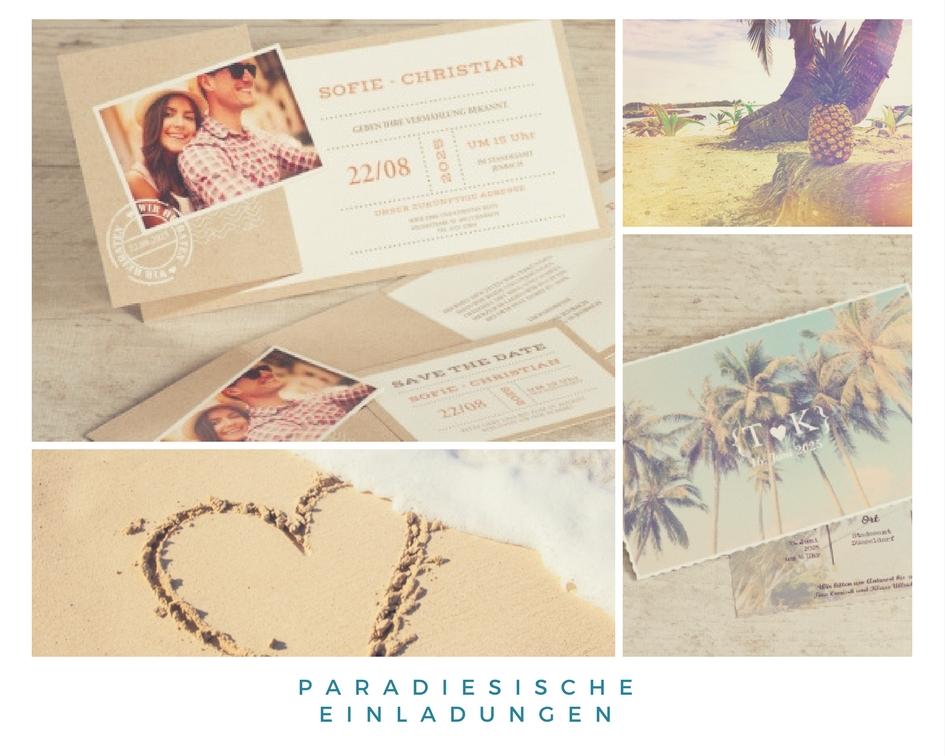 Paradiesische Einladungen